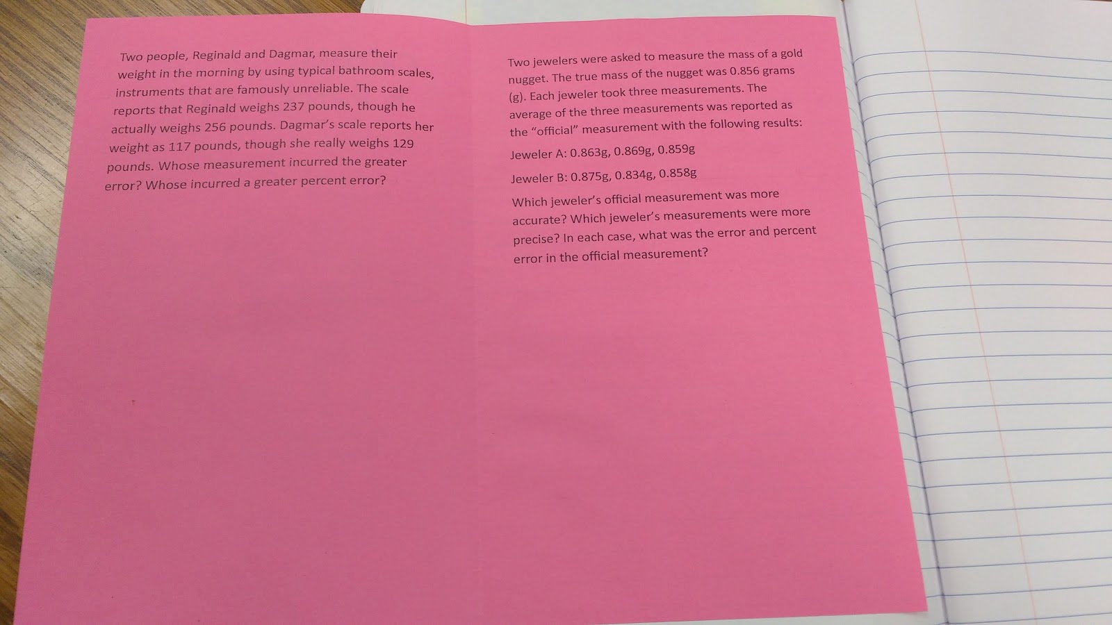 Inside of Booklet Foldable: