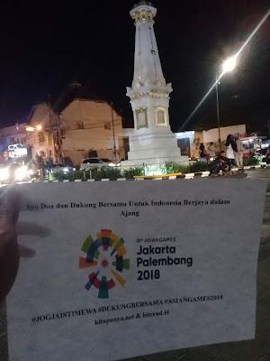 Dukung Asean Games dari Tugu Jogja