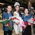 Hoa hậu Trương Hằng rạng rỡ về nước trong vòng tay bạn bè và người hâm mộ