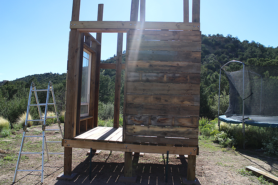 Home  Kids  Life : Building a Playset Part 4: The Siding and Roofing