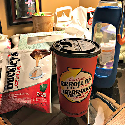 February 7, 2018 Sick in bed for the second day enjoy a coffee that a good Samaritan brought me