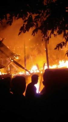Satu Rumah Warga Srinanti Ludes Terbakar