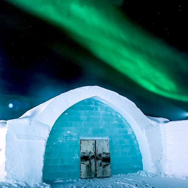 The Ice Hotel in Sweden is a temporary structure — it is rebuilt every year and reveals a new design during winter