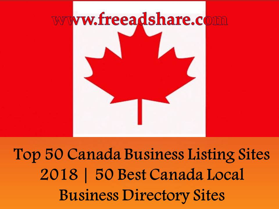 Top 50 Canada Business Listing Sites 2018 | 50 Best Canada Local