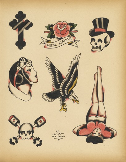 Old School Tattoo Flash Pictures to Pin on Pinterest ...