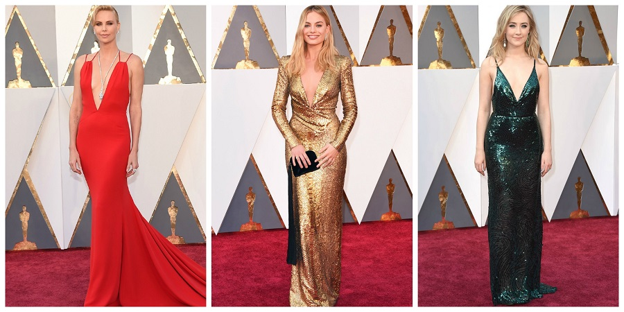 Oscars 2016 fashion, what they wore at the oscars, Saoirse Ronan, Charlize Theron, Margot Robbie, S