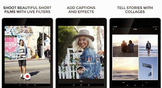 Camu, aplicativo de montagens de fotos.