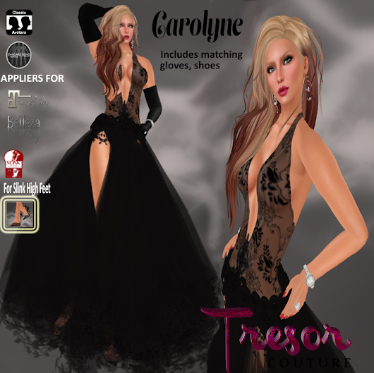 New Release! Beautiful Carolyne gown comes with all you need for a night out