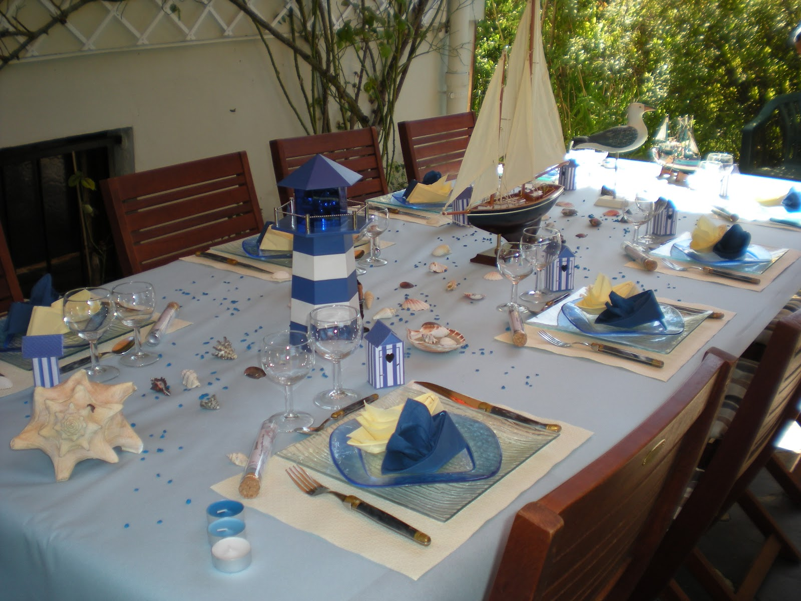 D coration sur le th me de la mer d co de table Decoration table mer