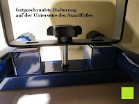 Schraube: as - Schwabe Chip-LED-Akku-Strahler 10 W, geeignet für Außenbereich, Gewerbe, blau, 46971