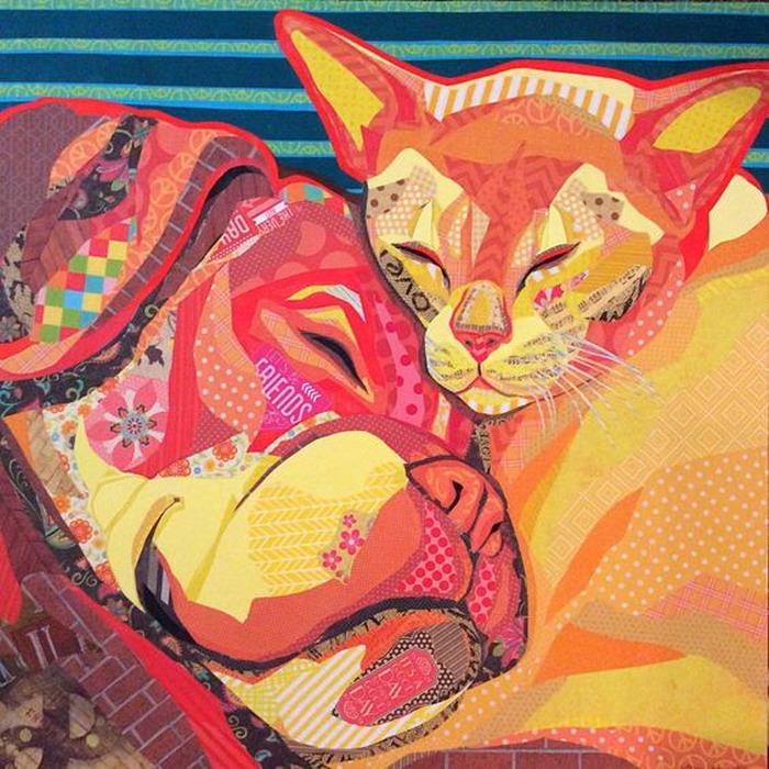 Resultado de imagen para perros y gatos pintura