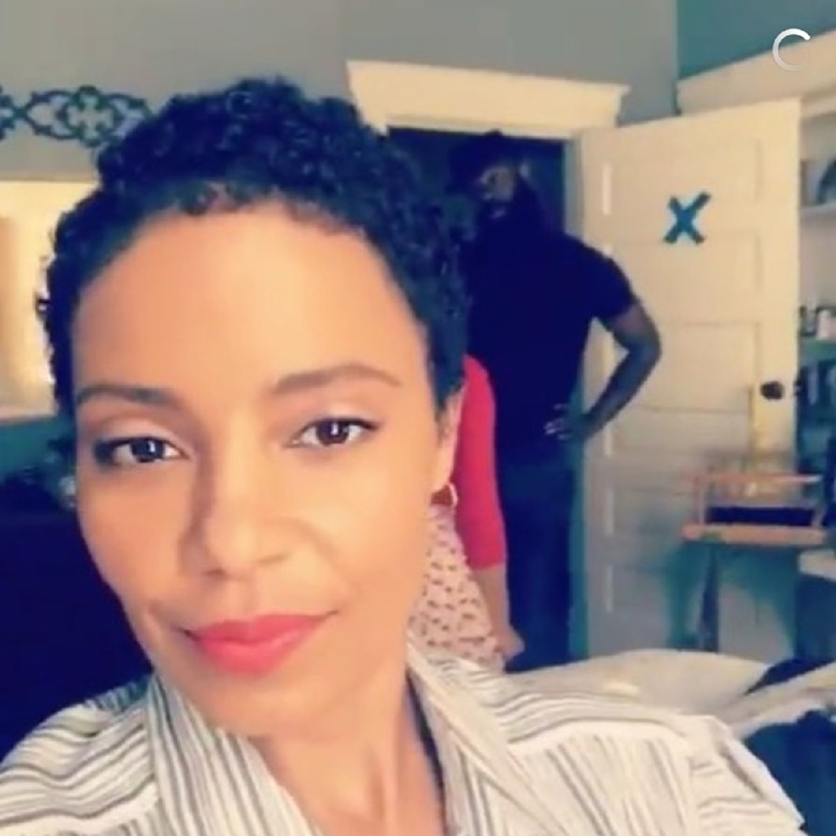 Sanaa lathan hair 2018