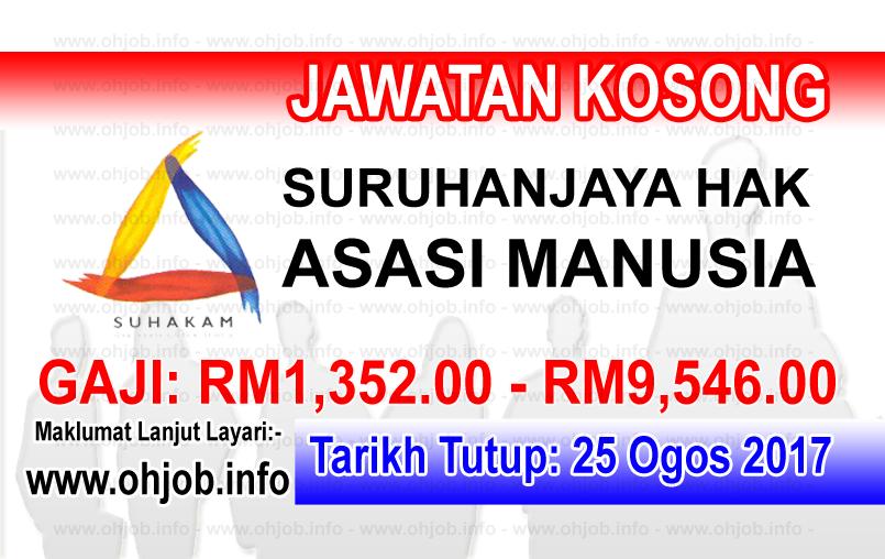Jawatan Kerja Kosong Suruhanjaya Hak Asasi Manusia - SUHAKAM logo www.ohjob.info ogos 2017