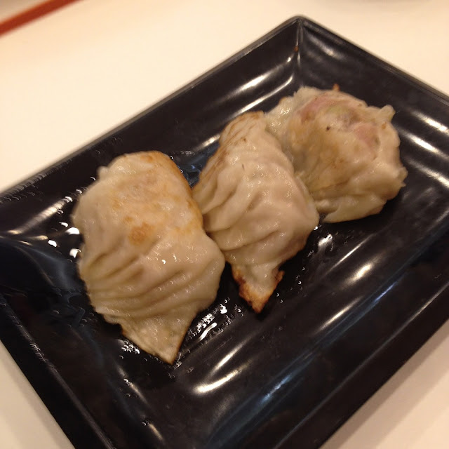 pot stickers at Yoshinoya