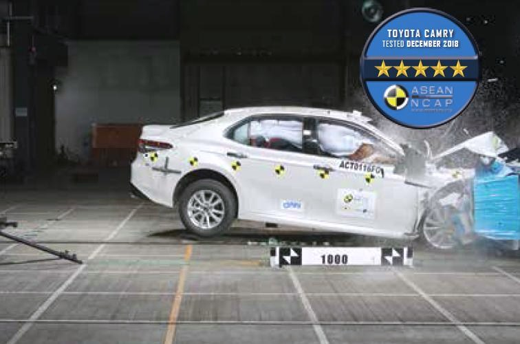 8th Generation All New Toyota Camry Gets A 5 Star Asean Ncap Crash Test Rating