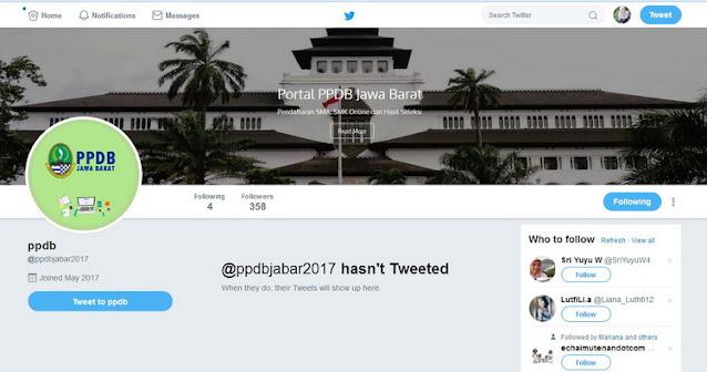 Twitter PPDB Jawa Barat