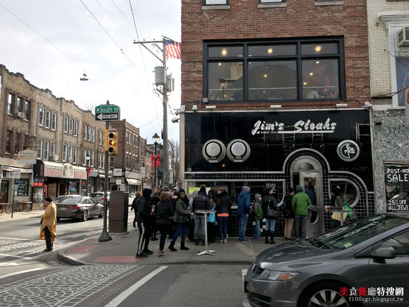 [美國] 費城市區【Jim's Steaks South St.】費城著名排隊美食 美味起司牛排漢堡(Cheese Steaks)