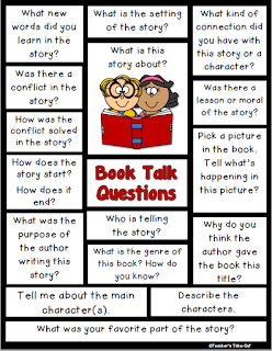Book Talk Questions to help talk about books