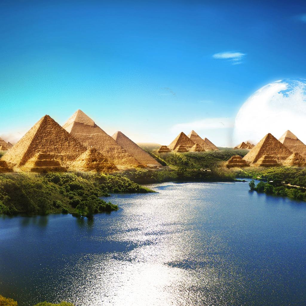 Anime Phone Wallpapers Girl Near Water Ipad Backgrounds Great Pyramid Ipad Wallpapers