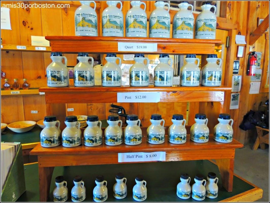 Maple Sugar Season en Massachusetts: Productos de Jarabe de Arce de Williams Farm Sugarhouse