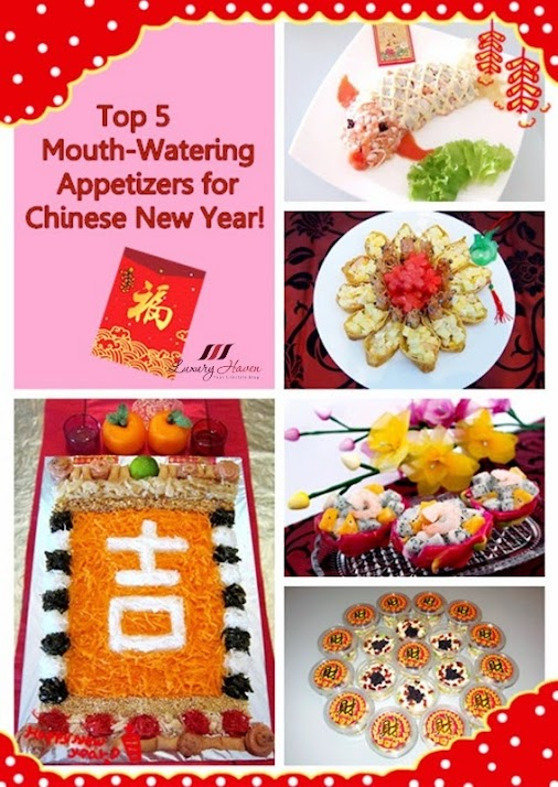 Top 5 Appetizing Chinese New Year Gourmet Appetizers!  Hey foodies, With the CNY fast approaching, I'll...