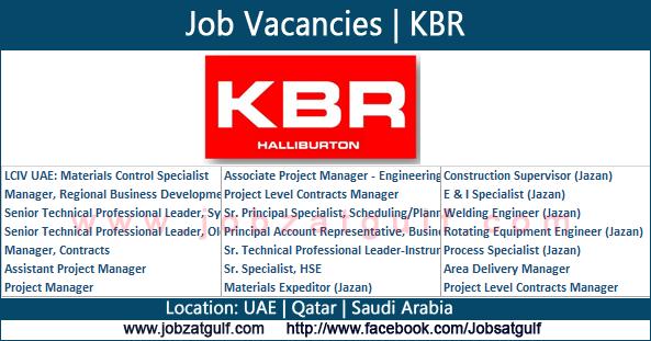 Job Vacancies | KBR - UAE | Saudi Arabia | Qatar ...