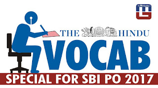 THE HINDU VOCABULARY | 11.03.2017 | IMPORTANT FOR SBI PO