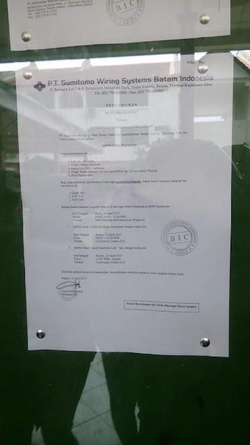 PT. Sumitomo Wiring System Batam Indonesia