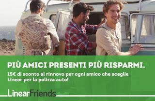 LinearFriends: Presenta un Amico e risparmia sulla polizza