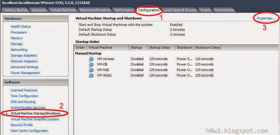 vmware automatically start machine