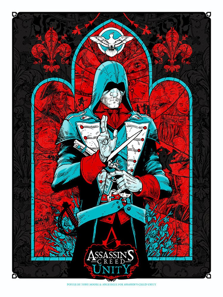 Inside The Rock Poster Frame Blog Assassin S Creed Soundgarden Posters By Angryblue Release Details