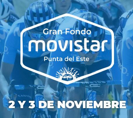 Ciclismo. Gran fondo Movistar en Punta del Este en dos días o en un día (Maldonado, 02y03/nov/2019)