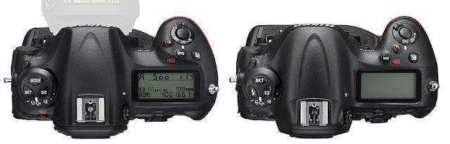Камеры Nikon D5 и D4s вид сверху