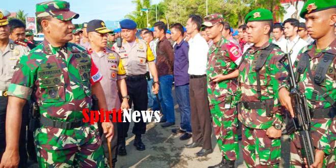Pangdam Hsn Bersama Kapolda Sulbar, Gelar Apel Pasukan Untuk Kehadiran RI-1 di Mamuju Sulbar