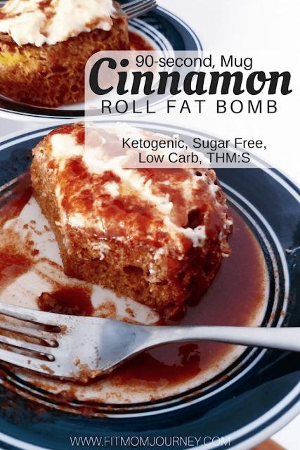 Keto Cinnamon Roll in a Mug: THM:S, Ketogenic, Grain-Free, Gluten Free, Low Carb #keto #ketogenic #grainfree #lowcarb #cinnamon #cinnamonrolls #fatbomb #dessert