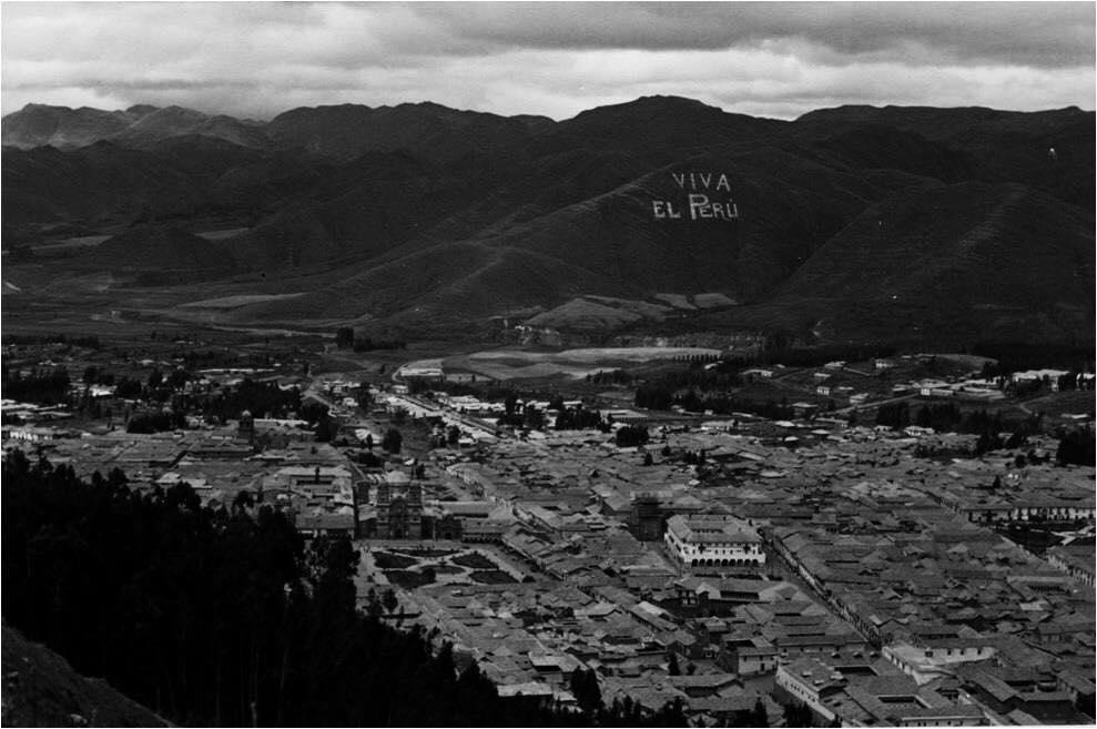 Foto antigua de la Ciudad del Cusco en 1945