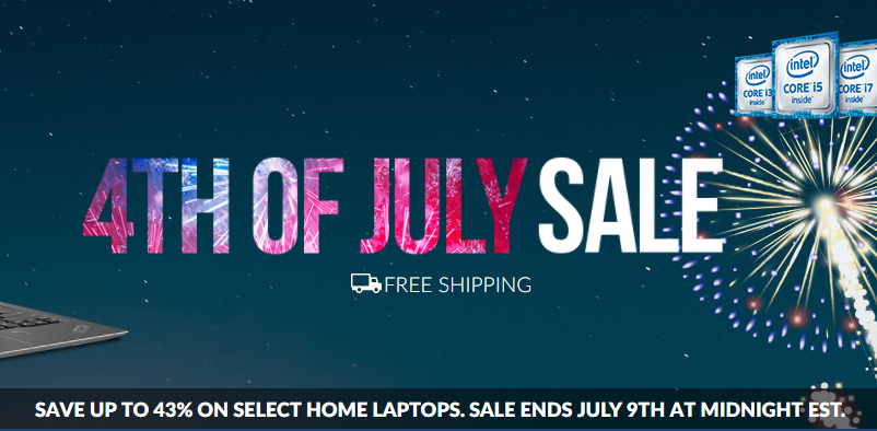 Lenovo 4th of July Doorbuster Sale All Lenovo Coupons During 4th of July Sale, Lenovo is offering great discounts of up to 45% Off on some of the best laptops.