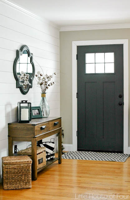 Sherwin-Williams Iron Ore painted Door