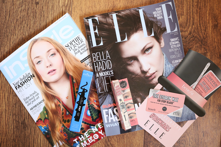 UK Magazine Freebies: Eyeko with InStyle & Benefit with Elle - June/July2016