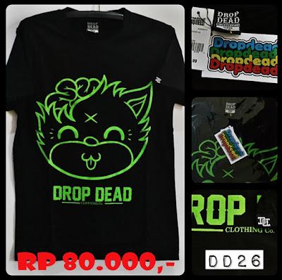 Kaos Distro Surfing Skate DROP DEAD Premium Kode DD26