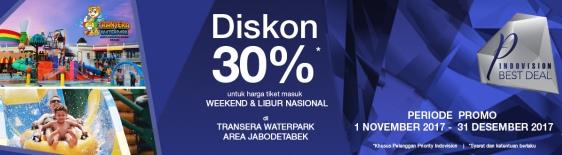 Diskon 30% Tiket Masuk Transera Waterpark - Indovision Priority
