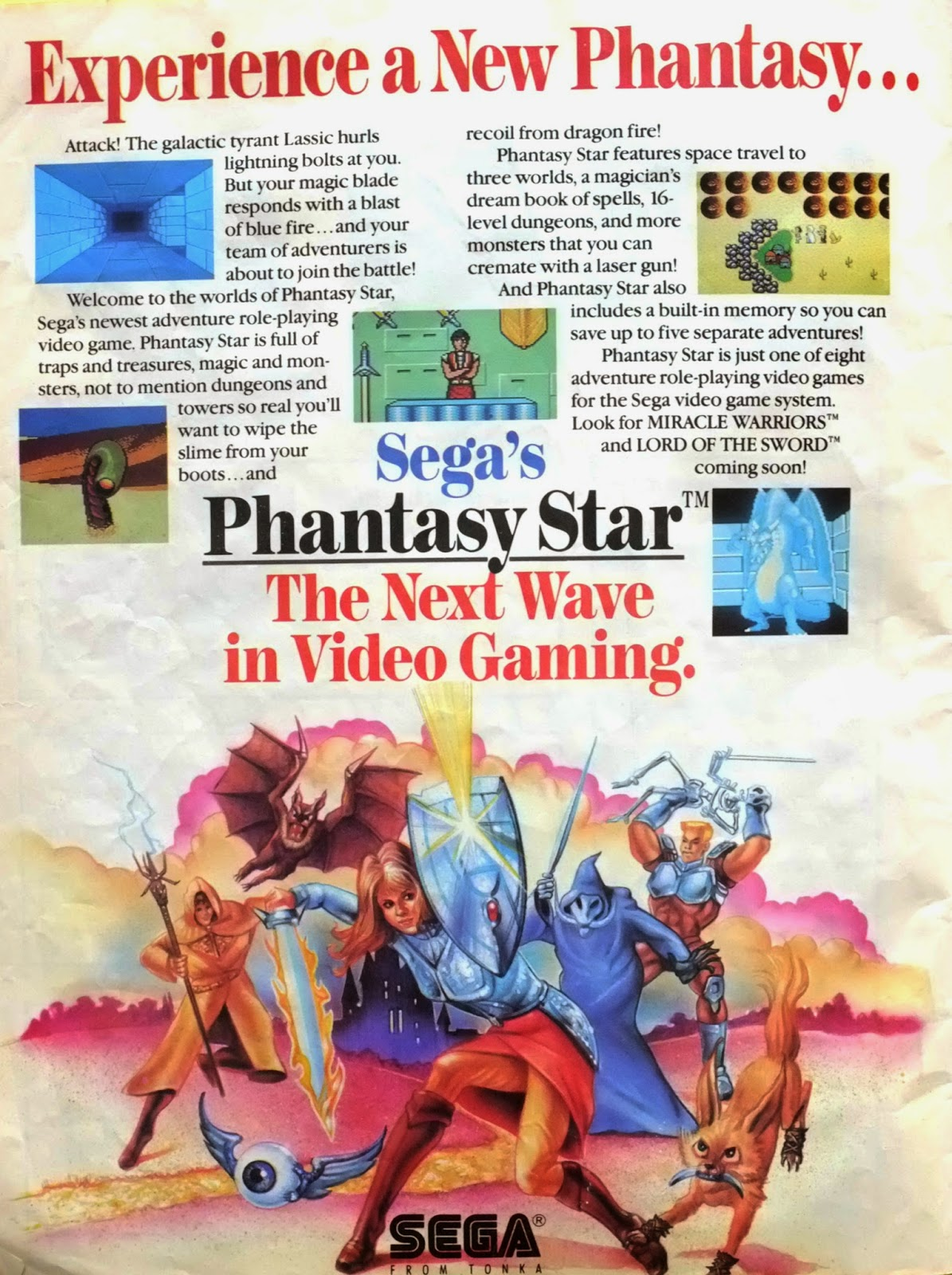 Phantasy Star for Sega Master System advertisement