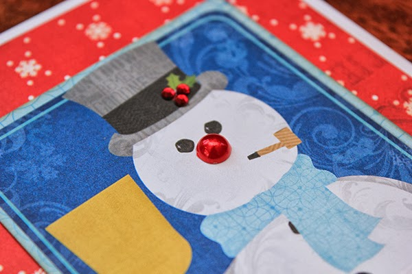 Tis The Season Snowman Christmas Card by Juliana Michaels detail