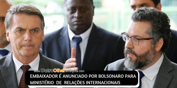 CONHEÇA ALGUMAS OPINIÕES DO NOVO CHANCELER ERNESTO ARAÚJO