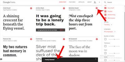 blog me google fonts kaise add kare