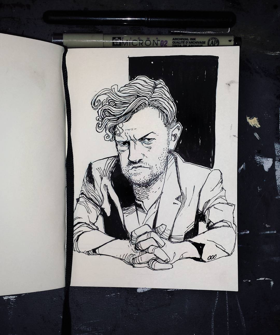 Black Mirror Charlie Brooker Illustration
