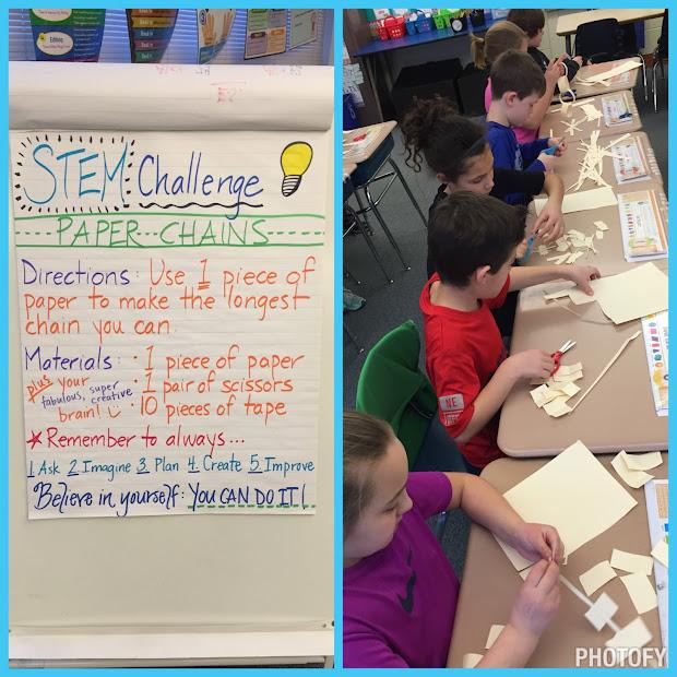 Stem Challenge Paper Chains - . Frey' Classroom Corner