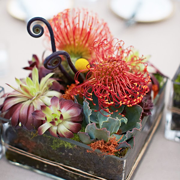 Destination Wedding Reception Ideas: Wedding Reception Tropical Centerpiece Ideas
