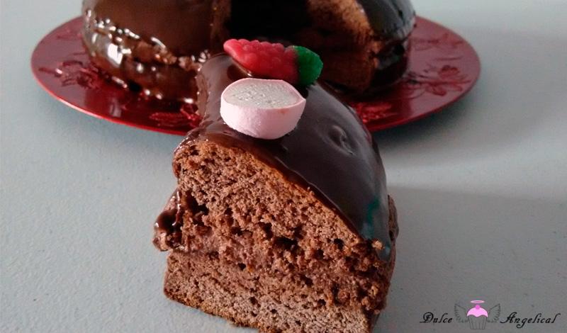 Roscón de Reyes de chocolate y trufa casero
