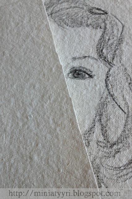 Lapsen muotokuva, äidin piirtämä - Portrait of the child, drawn by mother